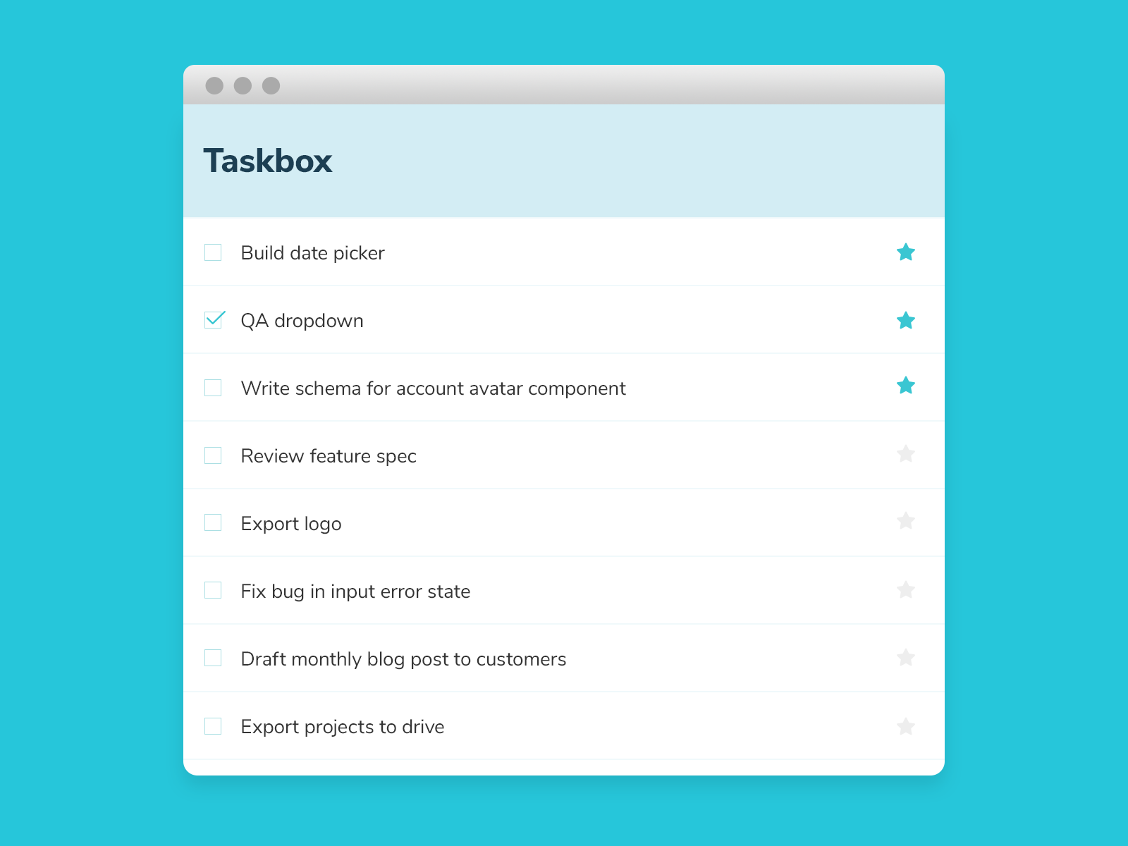 Taskbox UI